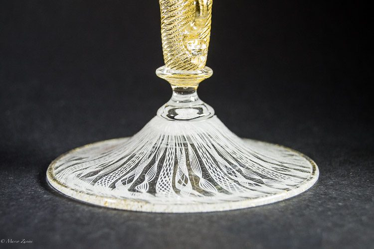 Details on the base of a Murano Glass chalice