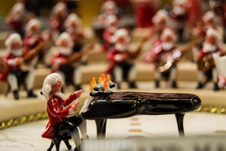 Details of a Murano Glass miniature orchestra