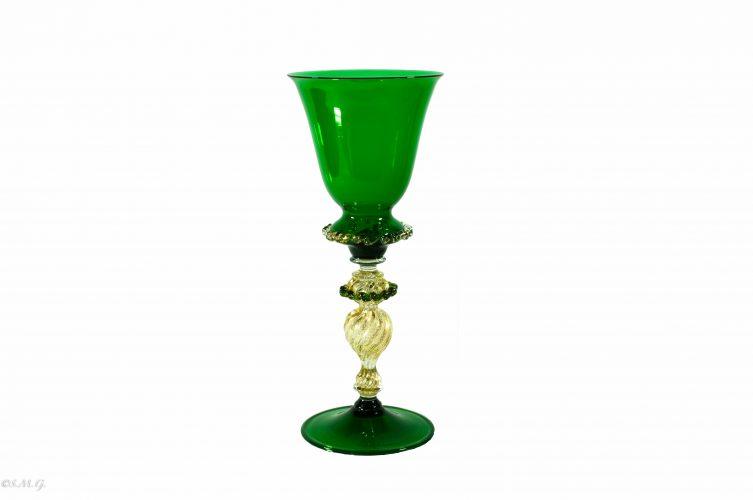 Murano Glass green chalice