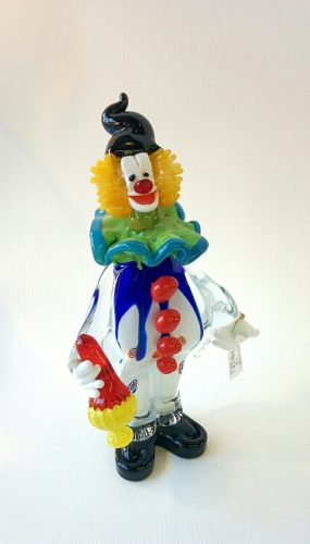 Murano Glass clown with a flask of wine