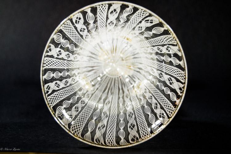 Calice in vetro di Murano con zanfirico