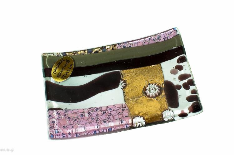 Purple Murano Glass rectangular plate
