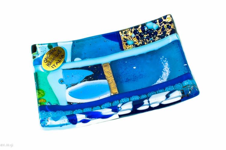 Blue Murano Glass rectangular plate