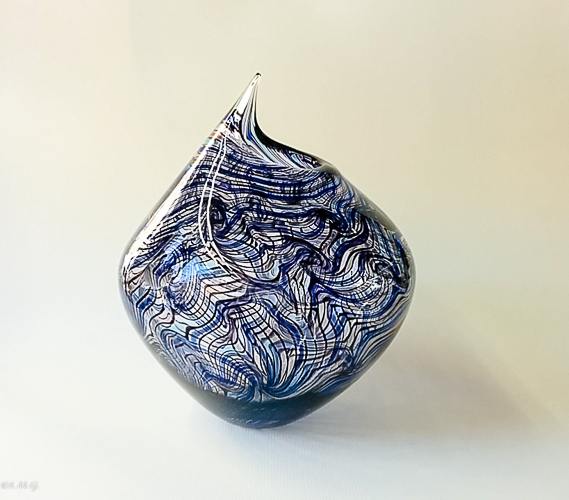 Blue and purple Murano glass vase