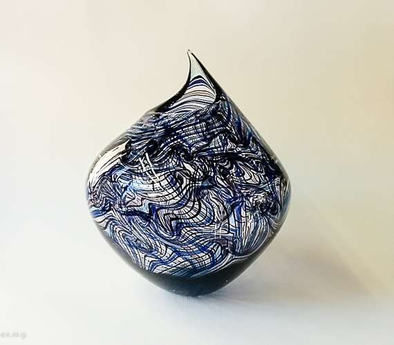 Blue and purple Murano glass vase
