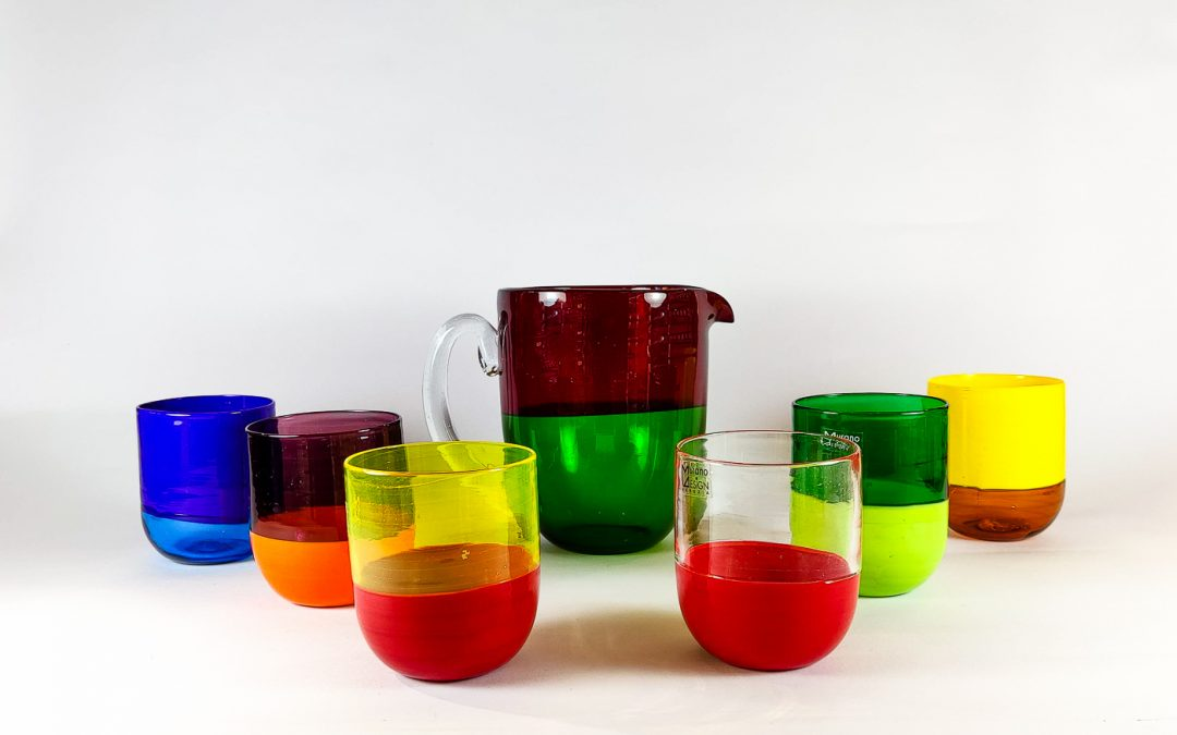 "Set of tumblers ""half & half"" collection"