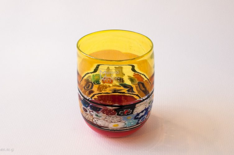 MuranoMurano Glass tumbler with murrina and different colours Glass carafe with murrina and different colours