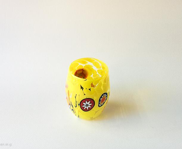 Yellow Murano glass tumbler