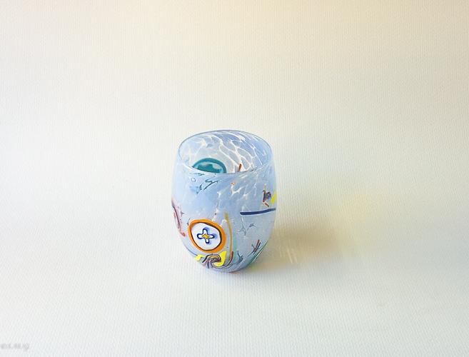 bright blue Murano glass tumbler