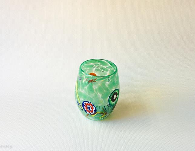 Green Murano glass tumbler