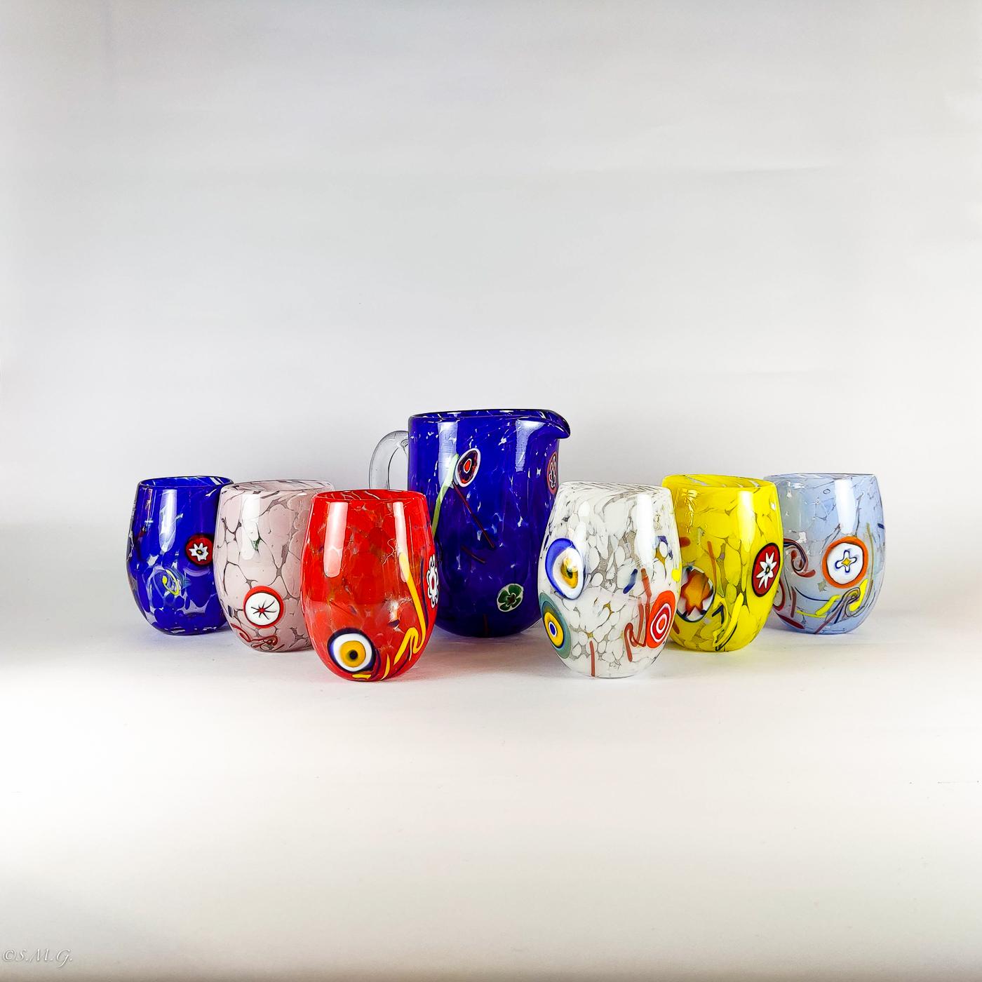Set of 6 Murano Glass tumblers