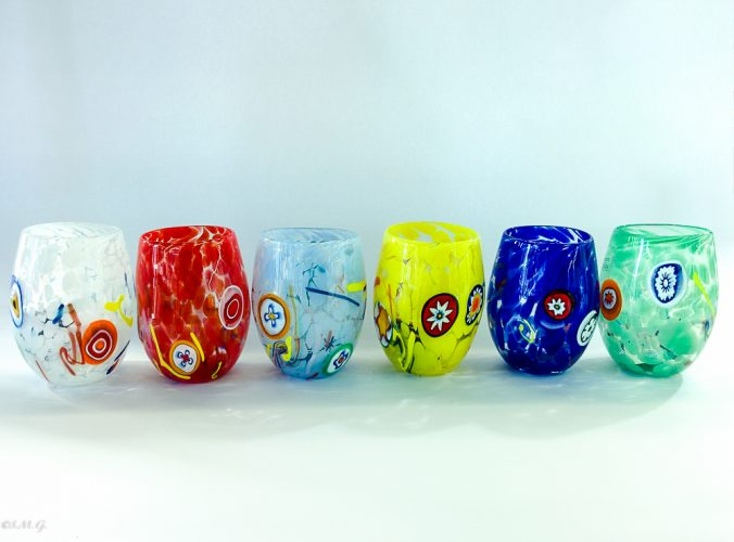 Set of 6 Murano Glass tumblers