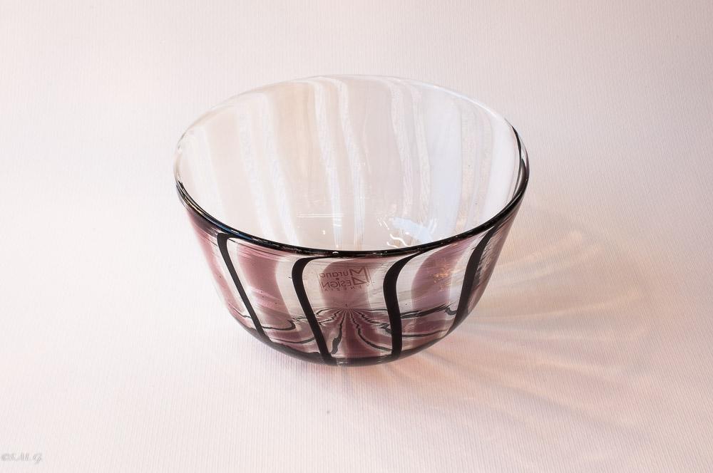Murano Glass Black and white Bowl