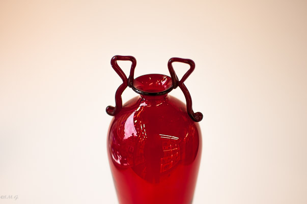 Details of Murano Glass red cup