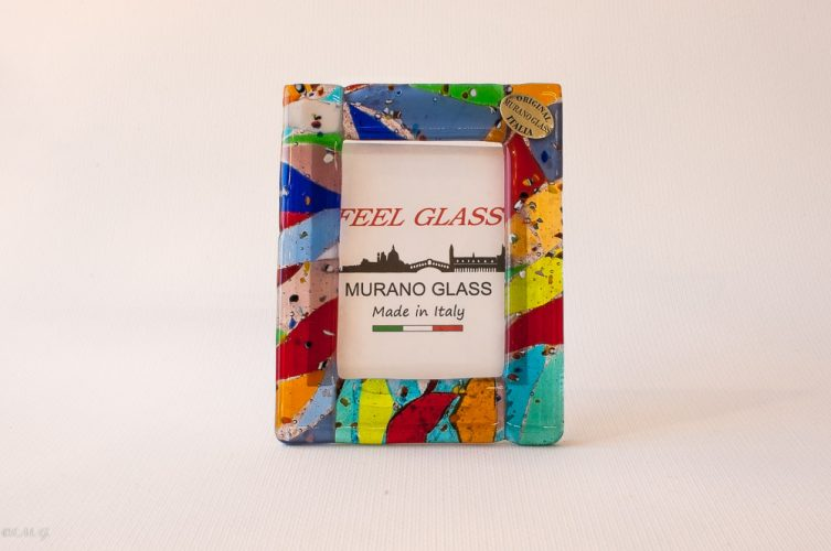 Murano Glass picture with different colours