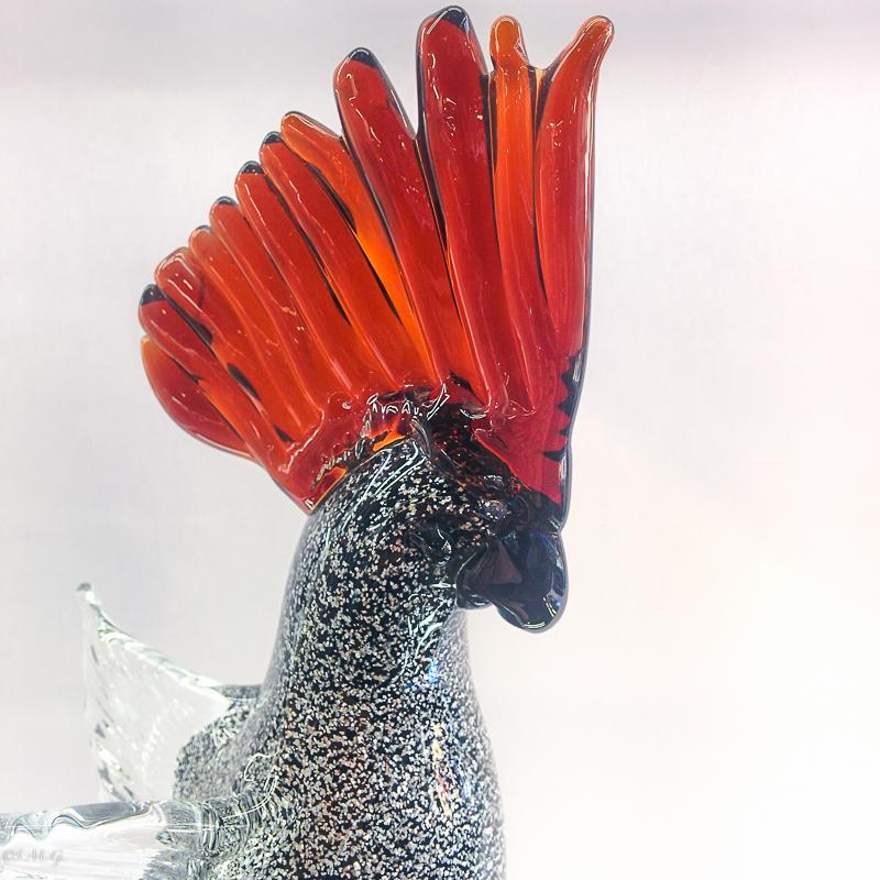 Black Murano Glass parrot