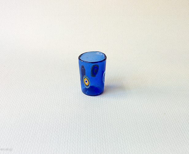 Blue Murano glass shotglass