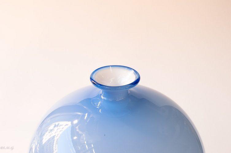 Detail of Light blue Murano Glass vase