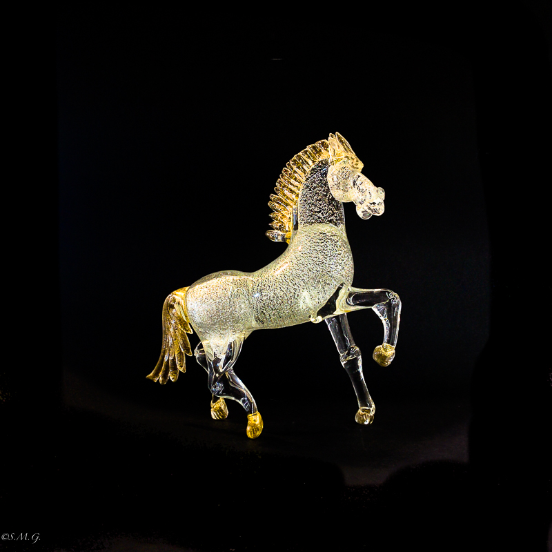 Silver Trotting Horse