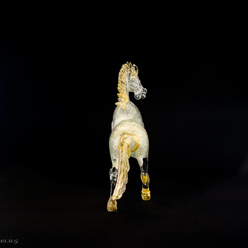 Silver Murano Glass horse