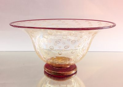 Murano Glass gold and red bowl