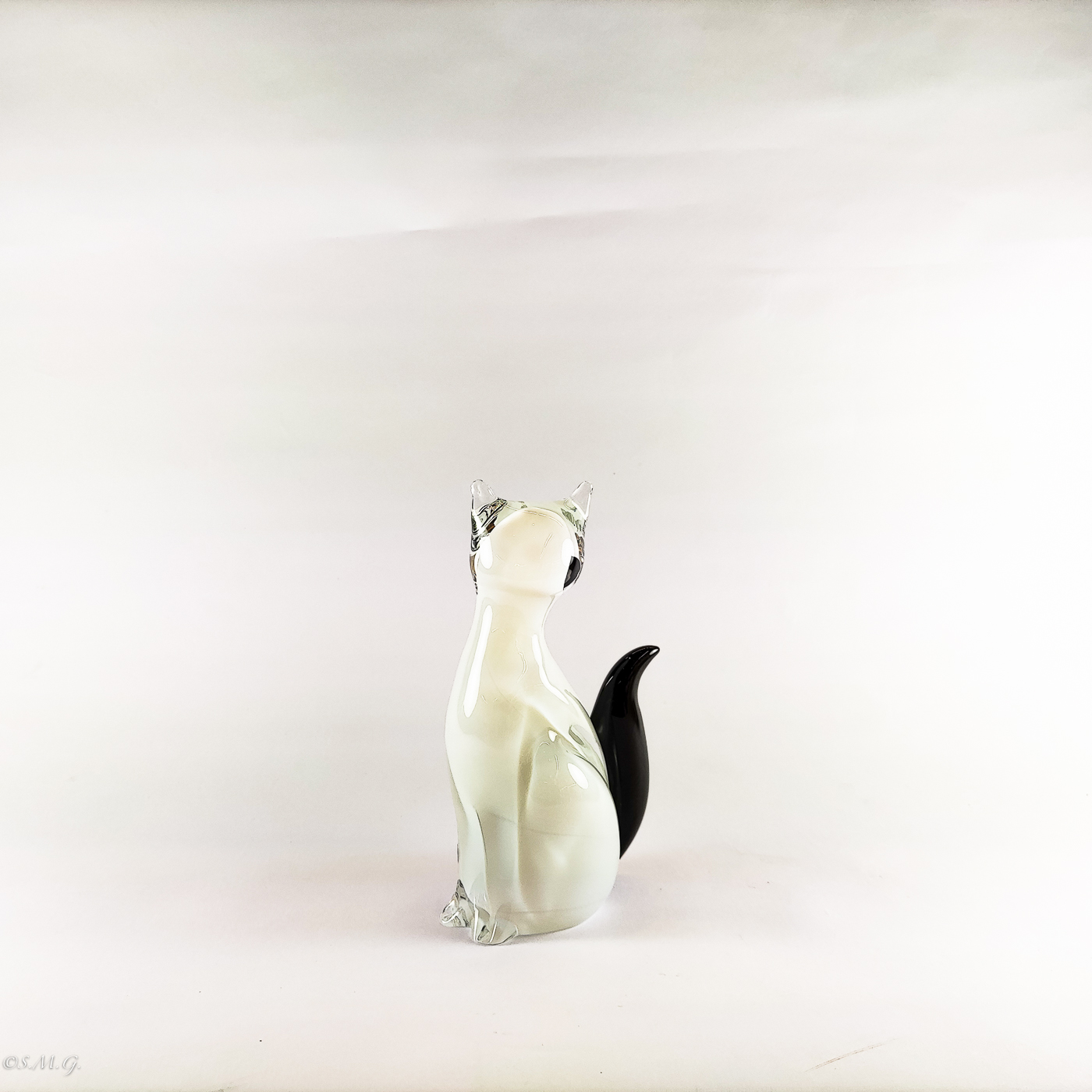 Murano Glass white cat