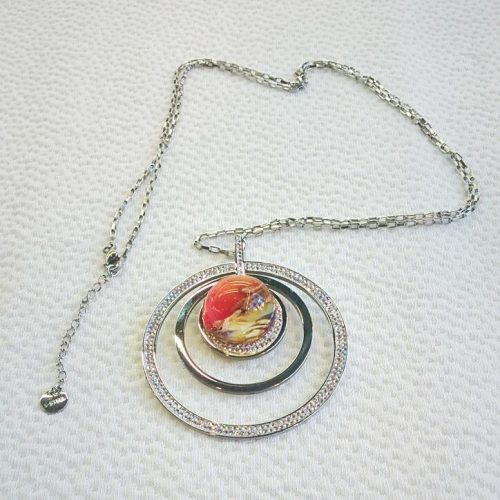 Necklace with round Murano Glass bead