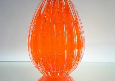 Murano Glass orange egg with fringes