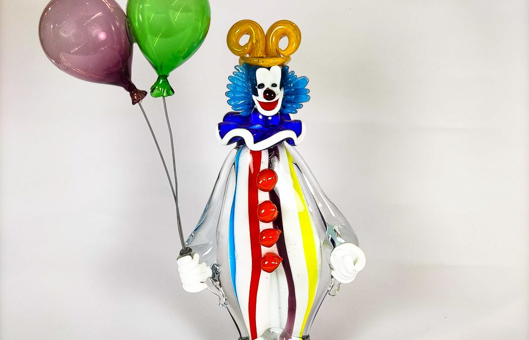 Big size clown with orange hat and balloons Circus collection