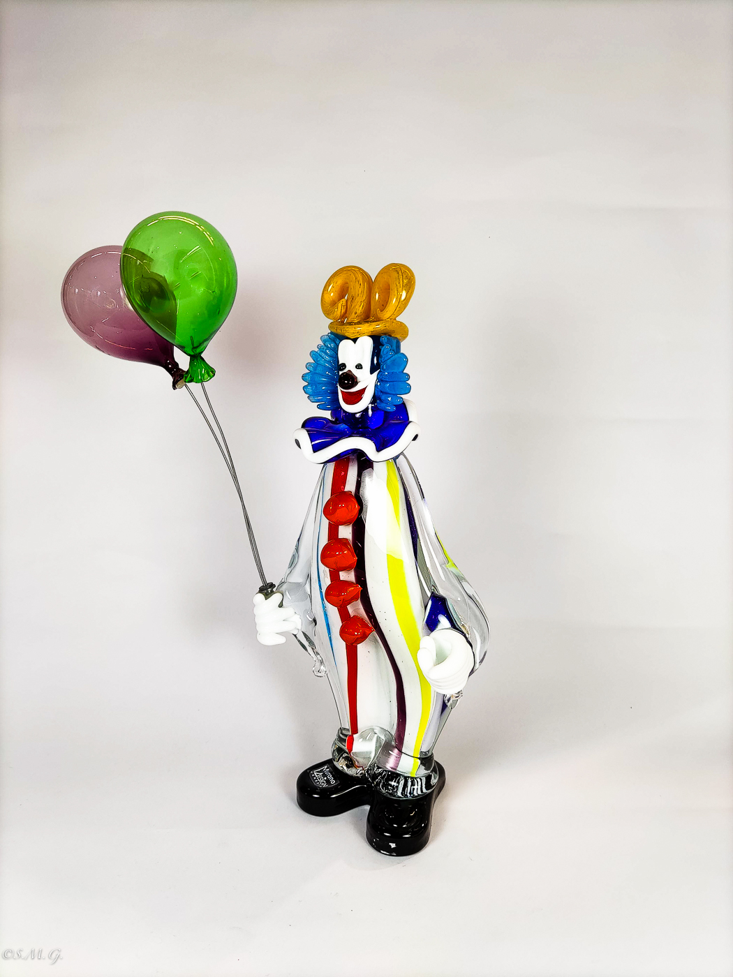 Murano Glass clown with balloons
