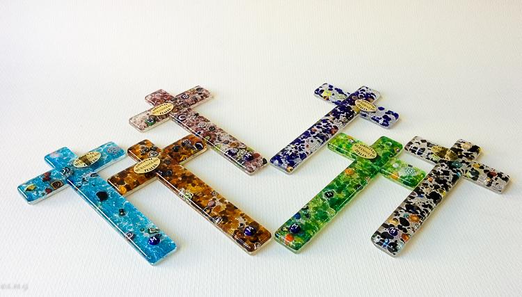 Croci in vetro di Murano