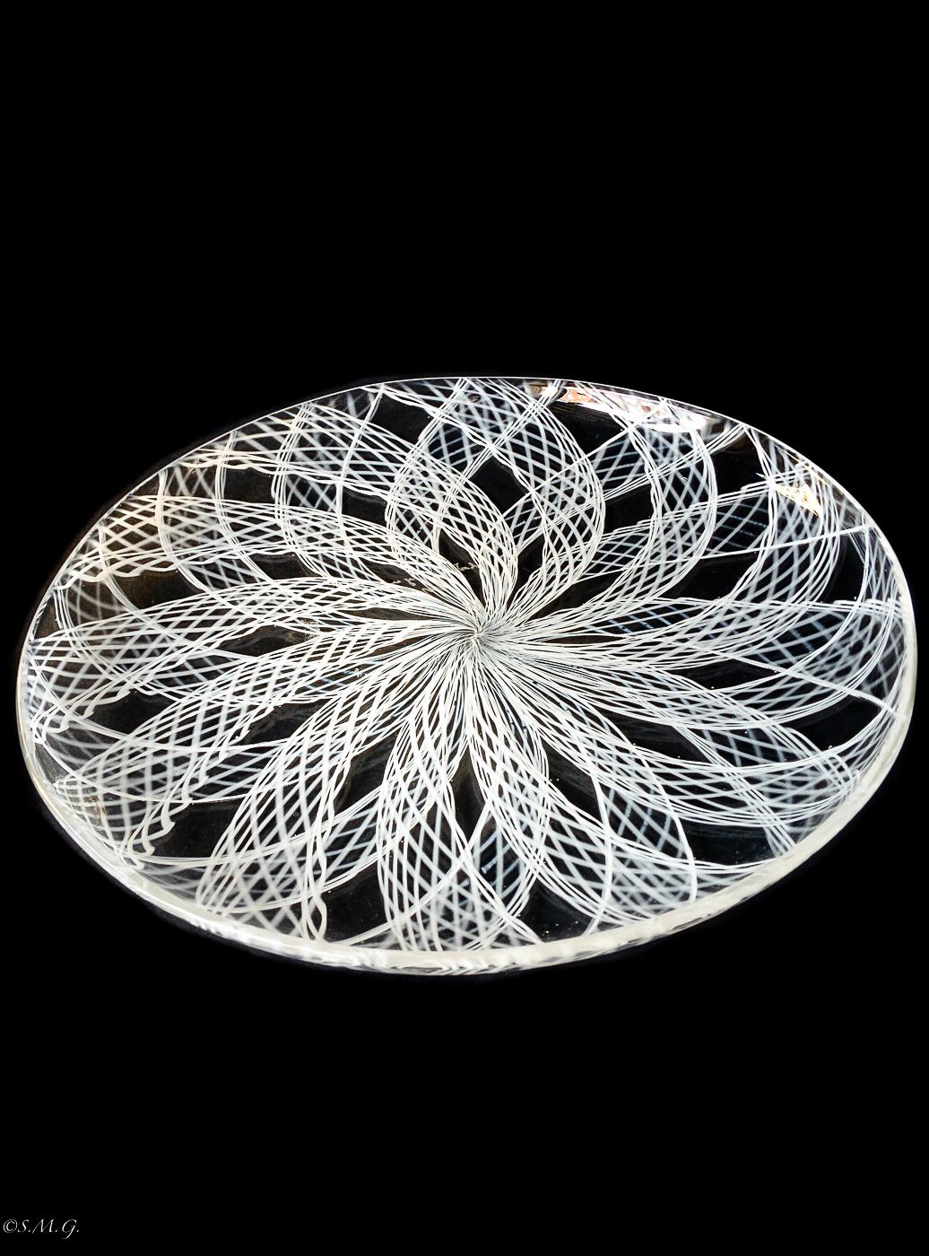 Murano Glass white plate