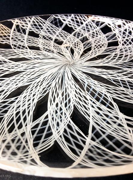 Details of Murano glass white plate