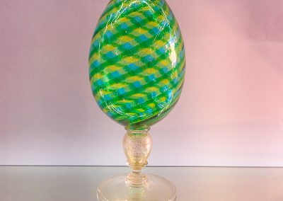 Murano Glass egg on a stand