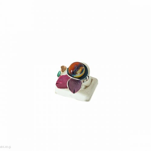 Murano Glass ring on a display