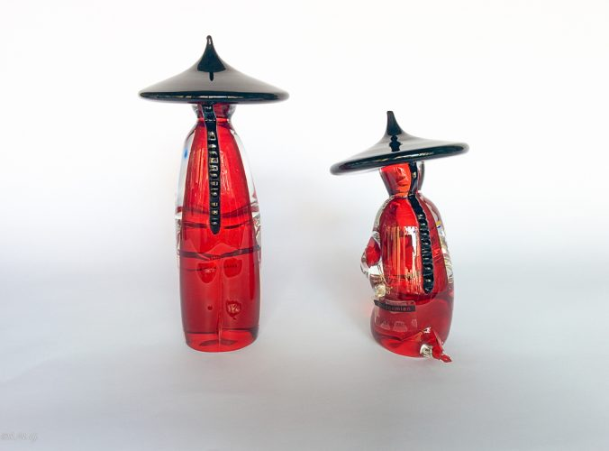 Couple of Murano Glass chinese monks