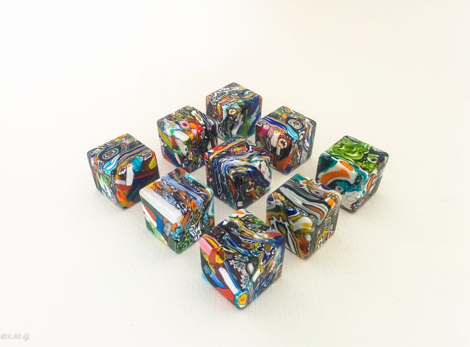 Murano Glass colourful cubes