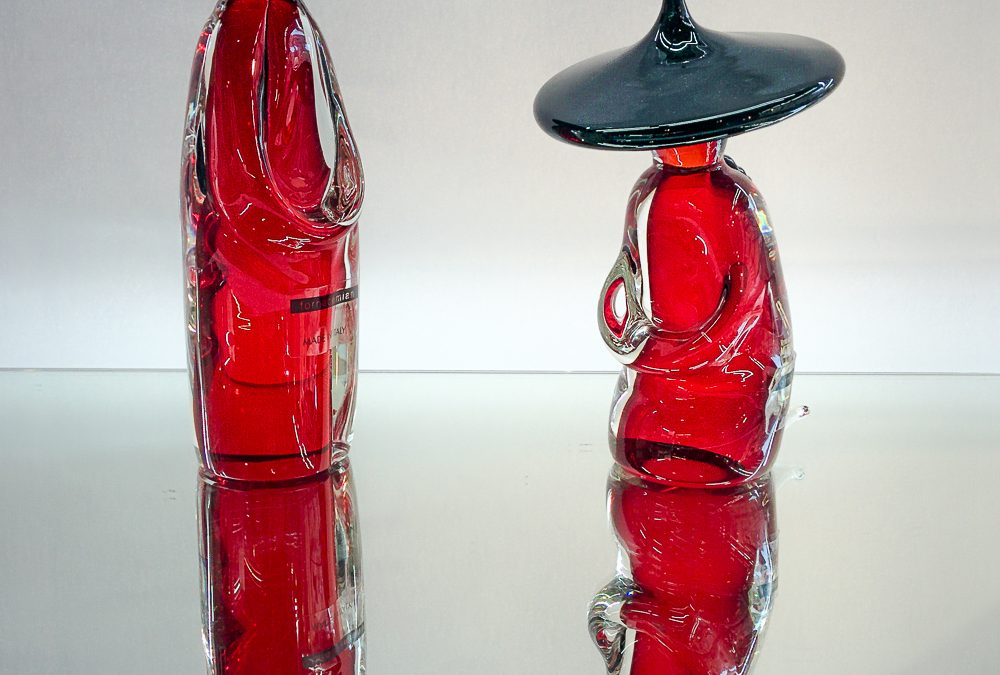 Couple of Murano Glass chinese monks