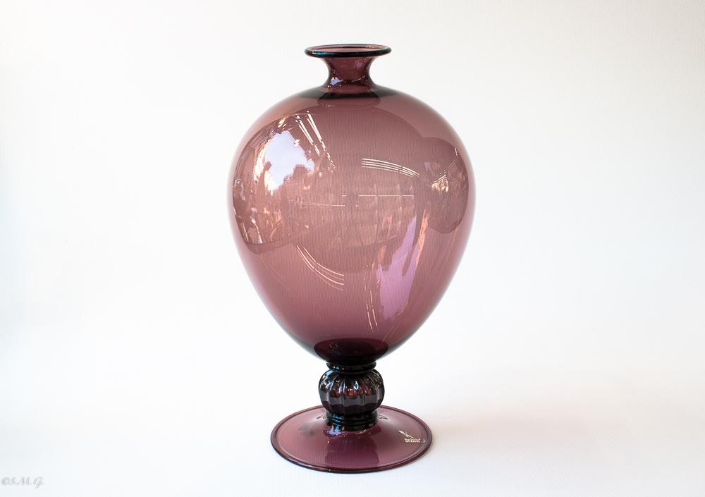 Vaso in vetro di Murano di colore fumé Veronese