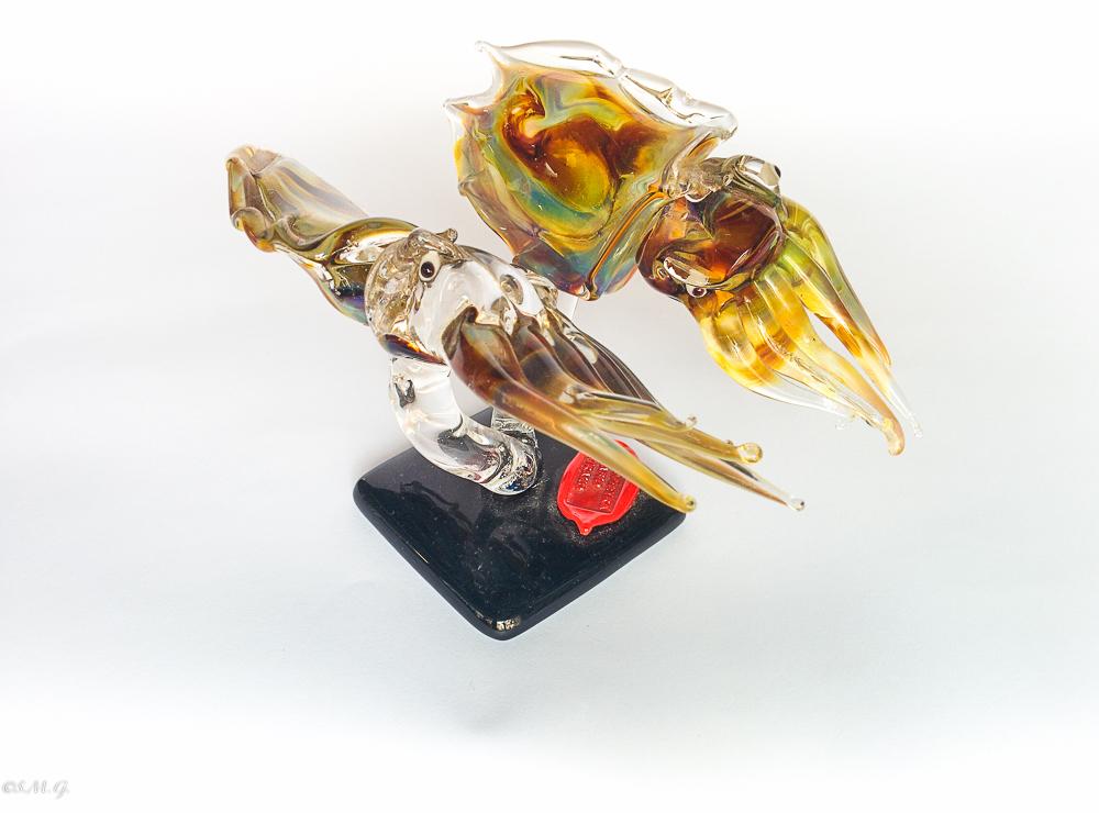 Murano Glass cuttlefish on a base