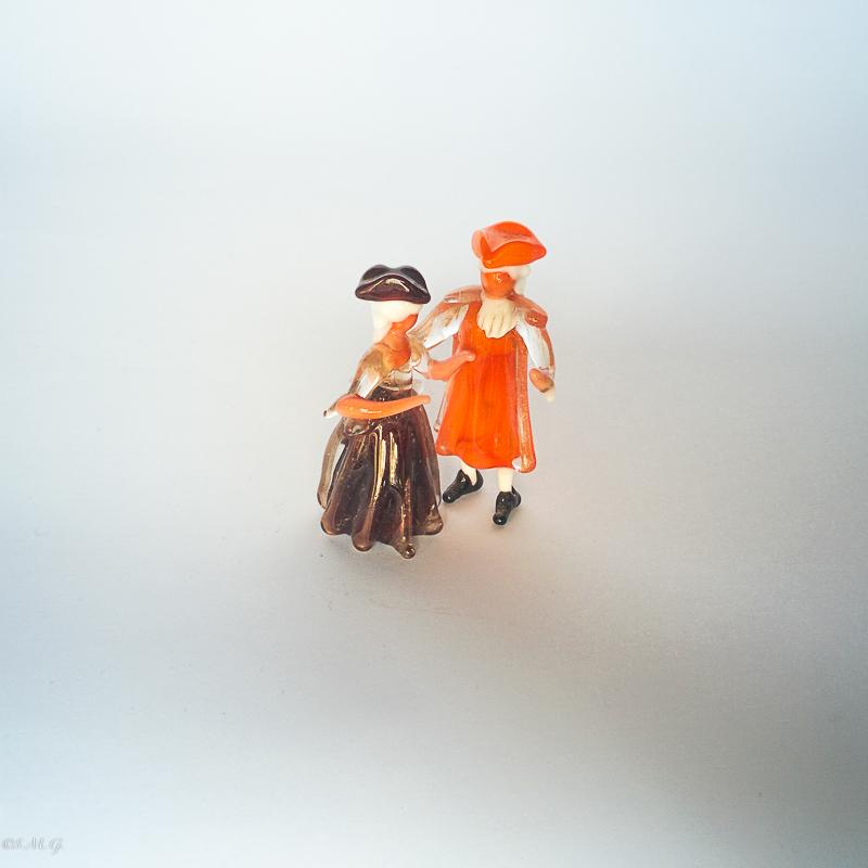 Miniature of Murano glass couple