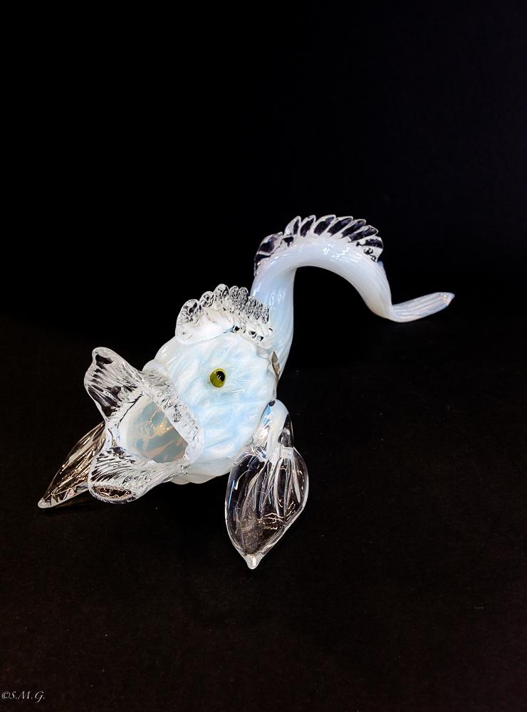 White Murano Glass dolphin