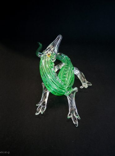 Murano Glass green crocodile