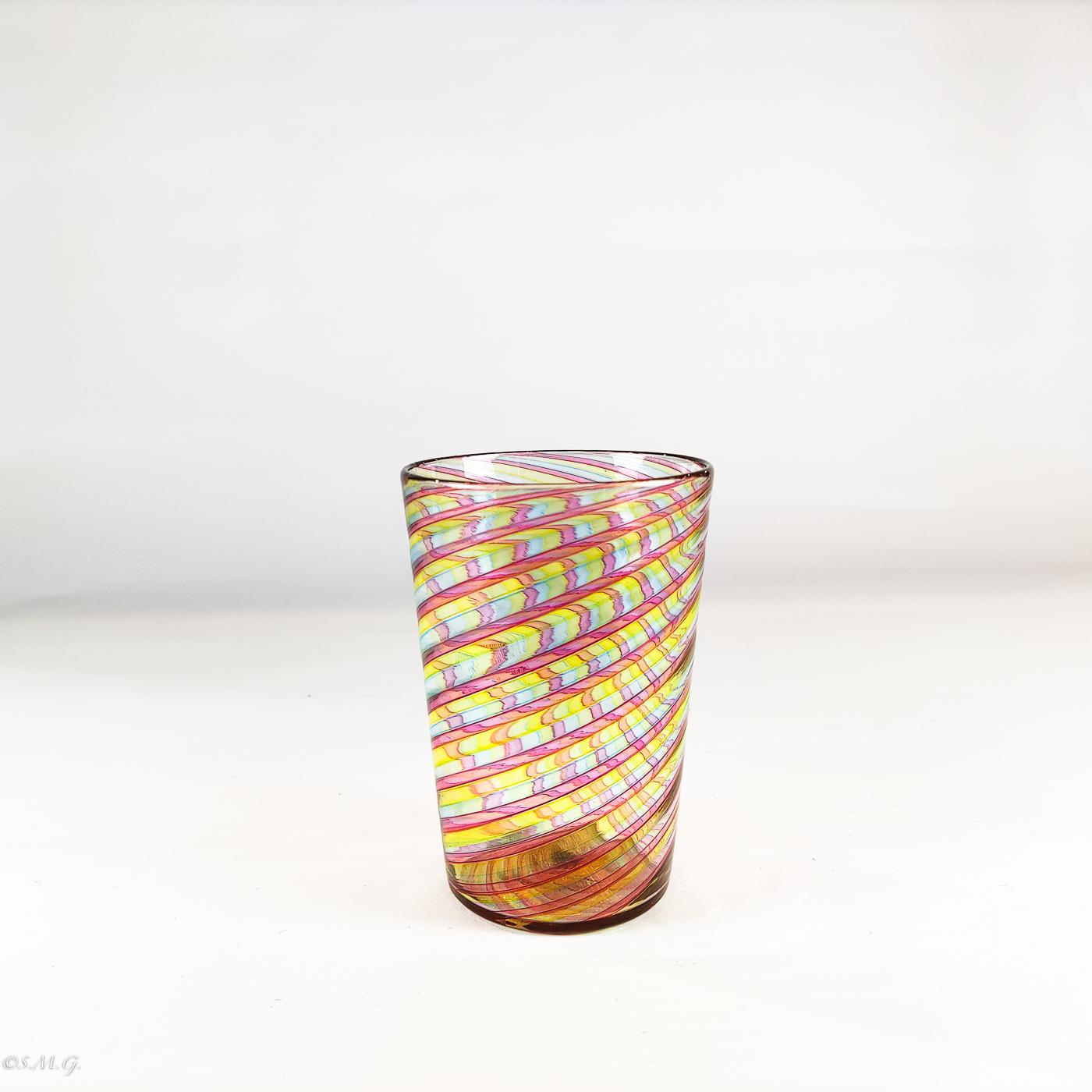 Bicchieri in vetro di Murano con filigrana