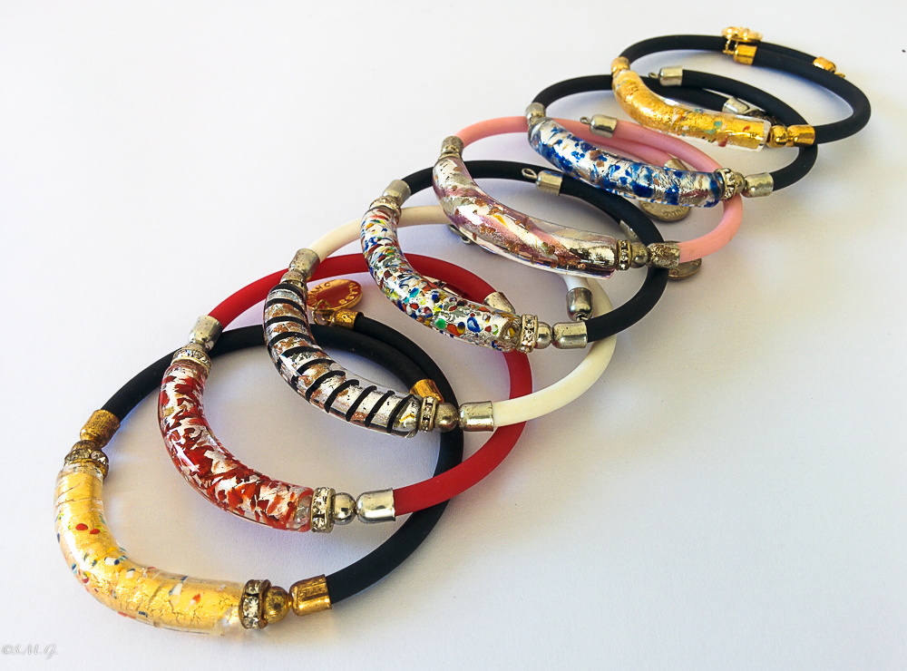 Murano Glass coloured bracelets