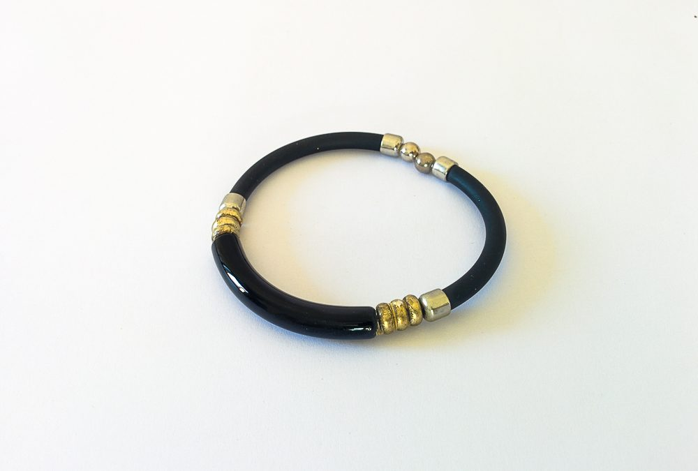 Murano glass black bracelet