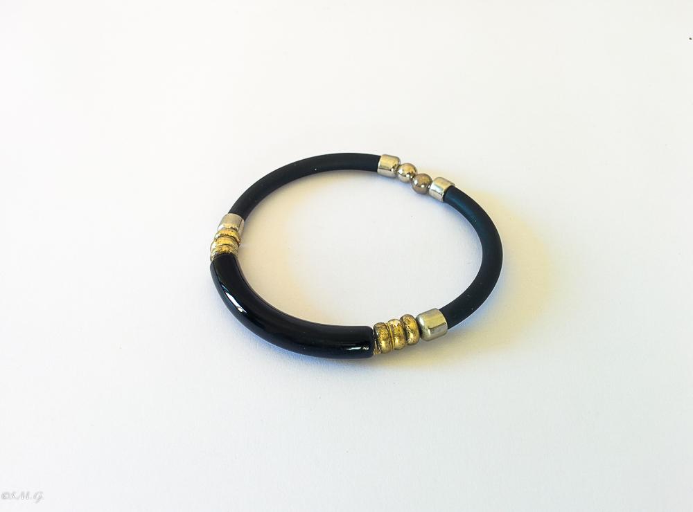 Murano glass black bracelet