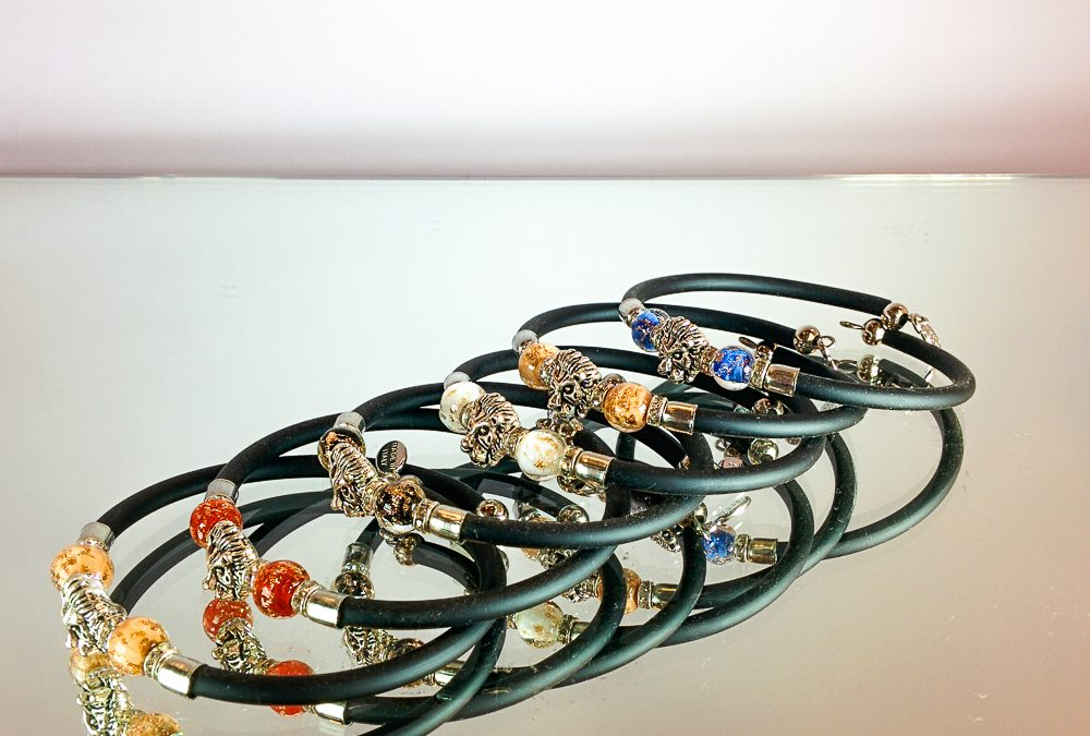 Murano Glass bracelets with lion charms