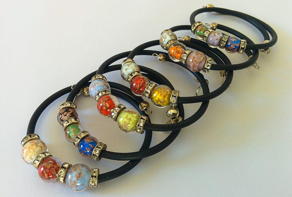 Murano Glass bracelets with 3 beads