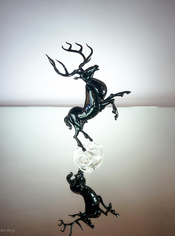Murano Glass deer on a base